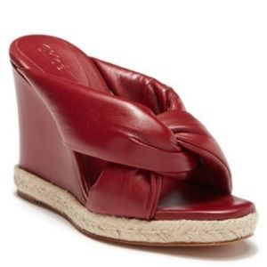 New Chloe Red Knot Wedge Sandals 37